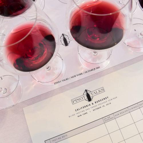 Pinot Talks wine and scoreboard