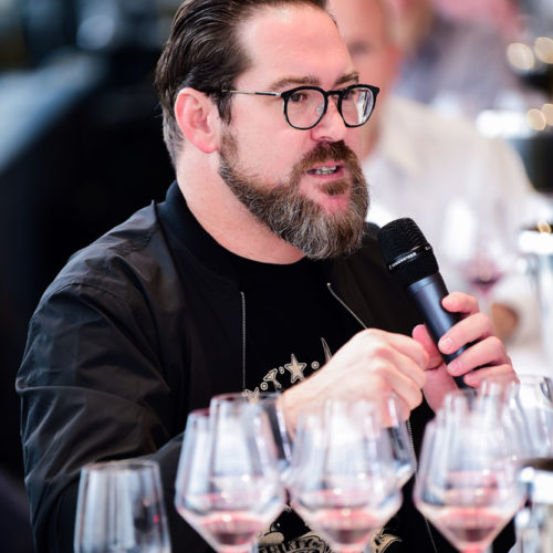 Member discussing wine at Pinot Talks NYC